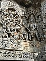 12th-century stone carving showing Nataraja legend at Shaivism Hindu temple Hoysaleswara arts Halebidu Karnataka India 4.jpg