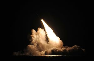 UGM-133 Trident II - USS Kentucky firing a Trident II SLBM in 2015 as part of the DASO 26 test launch