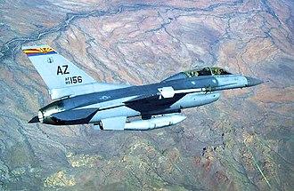 152d Fighter Squadron - Image: 152d Fighter Squadron General Dynamics F 16D Block 42E Fighting Falcon 90 2156