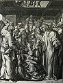153 Life of Christ Phillip Medhurst Collection 4266 Christ heals uncovering the roof Mark 2.4-10 De Vos.jpg