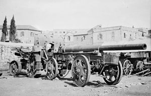 15 cm Kanone 16 - 15 cm Kanone 16 in transport configuration.  Photo taken in the Middle East.