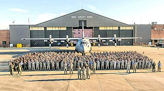 165th Airlift Wing - Georgia National Guard Airmen from the 165th Airlift Wing stand in front of a C-130H Hercules, Sept. 16, 2012 at Savannah Air National Guard Base