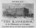 1885 Kaiserhof Berlin ad Harpers Handbook for Travellers in Europe.png