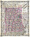 1892 Colton Pocket Map of Vermont and New Hampshire - Geographicus - VermontNewHampshire-colton-1892.jpg