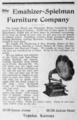 1907 Emahizer ad Topeka Kansas USA.png