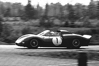 John Surtees - Surtees at the 1965 1000 km Nürburgring.
