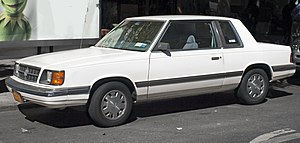 1988 Dodge Aries coupé front.jpg