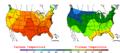 2005-09-21 Color Max-min Temperature Map NOAA.png