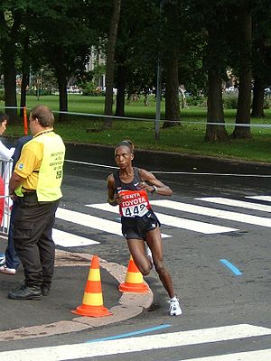 Rita Jeptoo - Jeptoo competing in the marathon at the 2005 World Championships