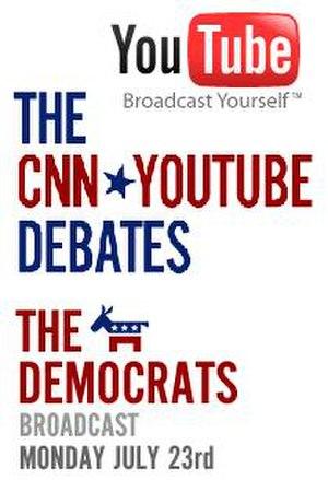 CNN/YouTube presidential debates - Image: 2007 You Tube Dems
