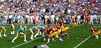 2008 USC Trojans football team - The 2008 edition of the rivalry marked a return to the tradition of both teams playing in home jerseys.