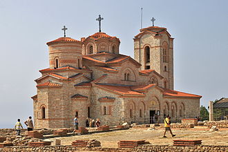 Macedonians (ethnic group) - One of the well-known Macedonian monasteries – St. Panteleimon in Ohrid.