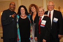 Baraka (left) with other recipients of the Vicki Sexual Freedom Award, 2011