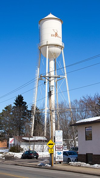 Elk River, Minnesota - The Elk River Water Tower was placed on the National Register of Historic Places in 2012.