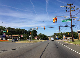 U.S. Route 206 northbound in Bordentown Township