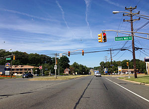 U.S. Route 206 - US 206 northbound at Dunn's Mill Road in Bordentown Township