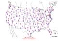 2015-10-08 Max-min Temperature Map NOAA.png