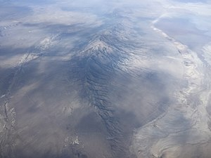 Pilot Peak (Nevada) - View from an airplane
