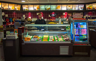 Snack bar - The interior of a snack bar in the Netherlands