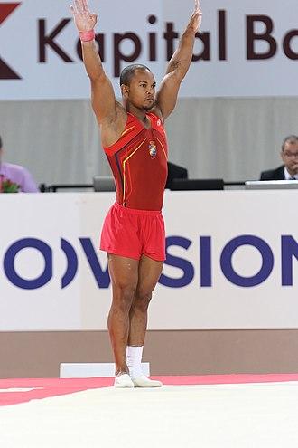 Rayderley Zapata - Image: 2015 European Artistic Gymnastics Championships Floor Rayderley Zapata 01