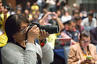 2015 Wikimania press conference-14.jpg