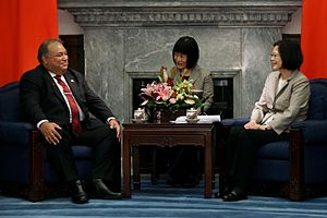 Foreign relations of Nauru - President Baron Waqa and ROC President Tsai Ing-wen in Taiwan.