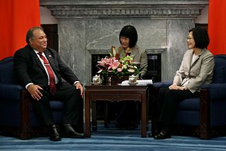 Foreign relations of Nauru - President Baron Waqa and ROC President Tsai Ing-wen in Taiwan.