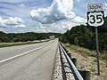 2017-07-24 15 02 08 View south along U.S. Route 35 at Lower Five Mile Road (Mason County Route 3-6) in Couch, Mason County, West Virginia.jpg