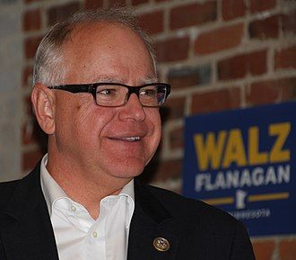 Tim Walz - Walz campaigning for governor in 2017