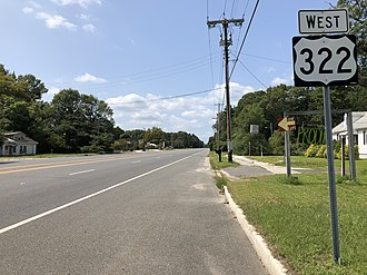 Monroe Township, Gloucester County, New Jersey - U.S. Route 322 westbound along the Black Horse Pike in Monroe Township