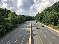 2019-07-05 17 44 13 View north along Interstate 270 Spur from the overpass for Interstate 495 westbound (Capital Beltway) along the edge of North Bethesda and Potomac in Montgomery County, Maryland.jpg