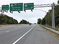 2019-10-03 10 18 36 View east along Maryland State Route 32 (Patuxent Freeway) at the exit for Maryland State Route 3 SOUTH (Bowie) on the edge of Gambrills and Odenton in Anne Arundel County, Maryland.jpg