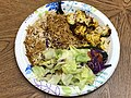 2021-04-26 20 24 05 Chicken kabob, basmati white and brown rice and salad from the Herndon Grill Kabob in the Franklin Farm section of Oak Hill, Fairfax County, Virginia.jpg