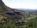202 Estreps dels cingles de Bertí i cases de la Madella, a la vall de Sant Miquel.JPG