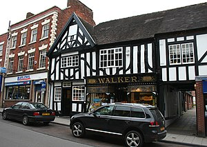 Whitchurch, Shropshire - High Street shops, Whitchurch