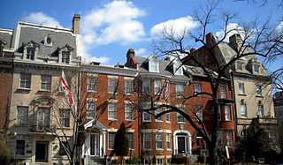 Embassy Row Washington, D.C. neighborhood highly concentrated with international embassies