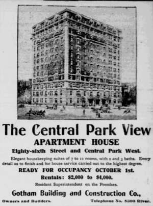 257 Central Park West - Image: 257cpw nydailyherald