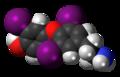 3,3',5-Triiodothyronamine 3D spacefill.png