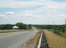 Highway 36 From Atop The Kawartha Rail Trail Crossing Facing North