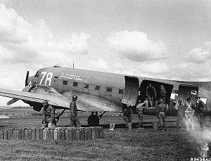 RAF Balderton - Douglas C-47A of the 84th Troop Carrier Squadron.