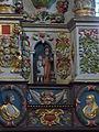4407.Altar- Der bretonische Heilige St.Herbot-Saint Hervé, Wolf und der kleine Führer.JPG