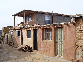 Acoma Pueblo - A street in the pueblo, 2012