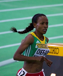 Meseret Defar Ethiopian long-distance runner