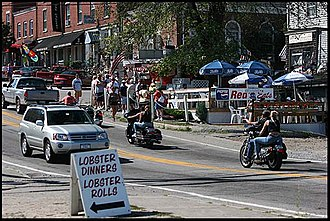 Wiscasset, Maine - Main Street (U.S. Route 1) during tourist season in 2005