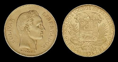 Coins of the Venezuelan venezolano