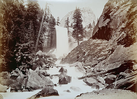 The Vernal Fall, Yosemite by Carleton Watkins c.1873 - 83 8. The vernal fall, Yosemite valley.jpg