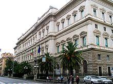 La sede della Banca d'Italia a Palazzo Koch in via Nazionale a Roma