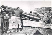 936th Field Artillery Battalilon Gun Firing in South Korea, 1951