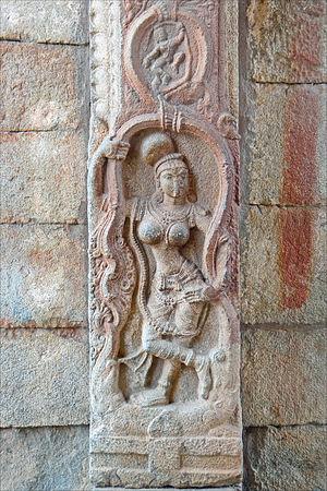 Yaksha - Image: 9 Yakshi at Vittala temple Vitthala Hampi Vijayanagar Karnataka India 2014