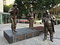 A. Davis, C. Lilley and E. Miller statues in Brisbane 01.JPG